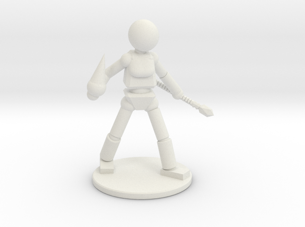 Prototype: Female Staff in White Natural Versatile Plastic