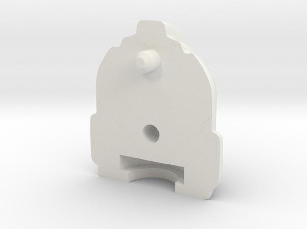 Prowlhoofd 18 mm achterkant in White Natural Versatile Plastic