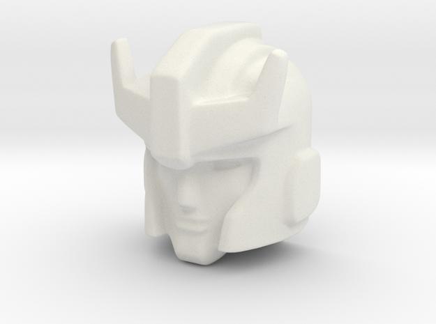 Prowlhoofd 23mm voorkant in White Natural Versatile Plastic