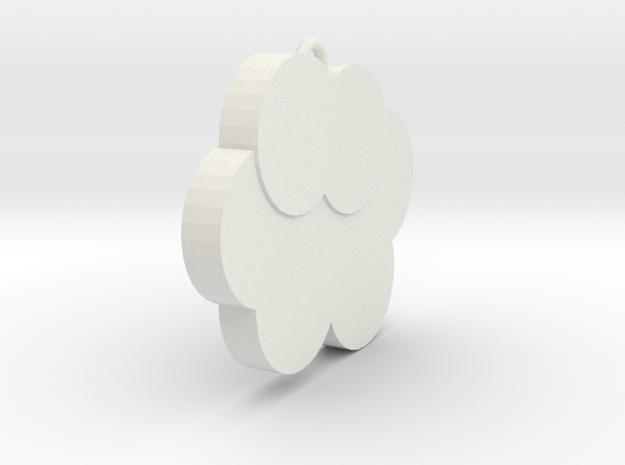 雲朵吊飾.stl in White Natural Versatile Plastic