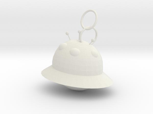 外星球.stl in White Natural Versatile Plastic