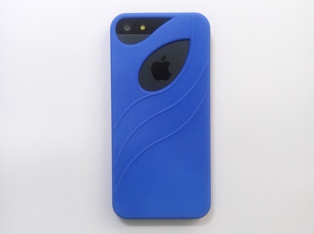 iphone 5 Case in Blue Strong & Flexible Polished