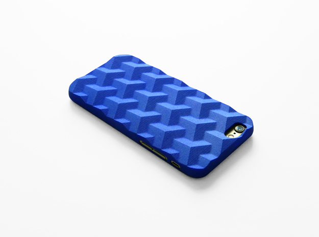 iPhone 6 & 6S case_Cube in Blue Processed Versatile Plastic