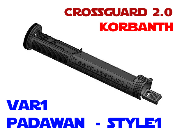 Korbanth Crossguard 2.0 - Padawan Var1 Style1 in White Natural Versatile Plastic