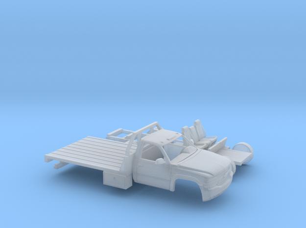 1/87 1999-02 Chevy Silverado RegCab Flatbed Kit in Smooth Fine Detail Plastic