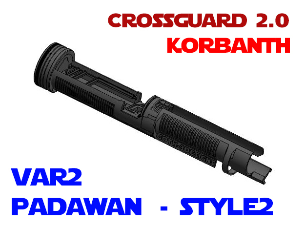Korbanth Crossguard 2.0 - Padawan Var2 Style2 in White Natural Versatile Plastic