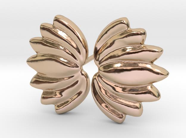 Lotus018 Earrings 1mm in 14k Rose Gold Plated Brass