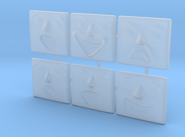 Normal Face Pack (6x) in Smoothest Fine Detail Plastic: 1:76 - OO