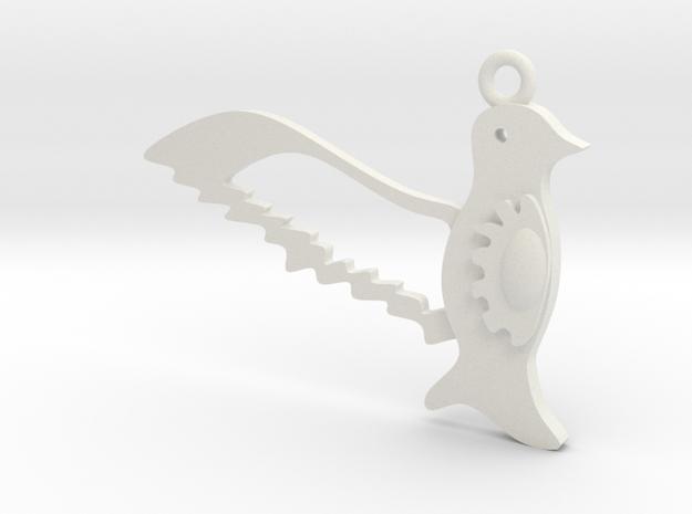Bird's in White Natural Versatile Plastic