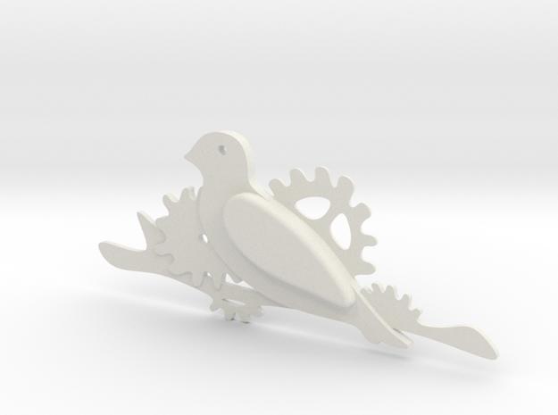 Brooch in White Natural Versatile Plastic
