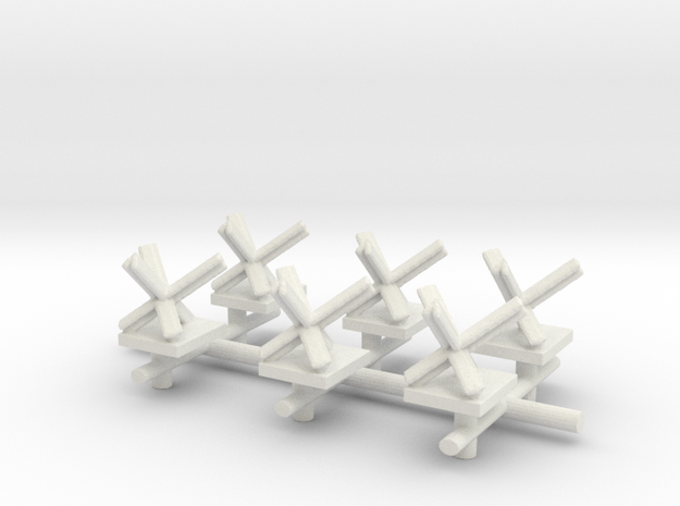 Czech Hedgehog x6  in White Natural Versatile Plastic