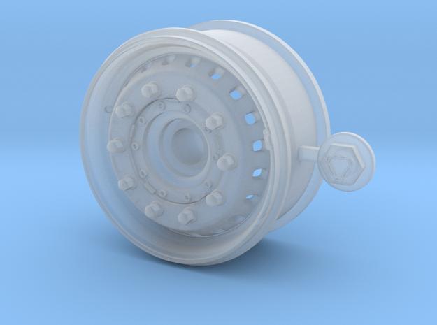 1/24 SCANIA truck Wheel FRT super single type  in Smooth Fine Detail Plastic