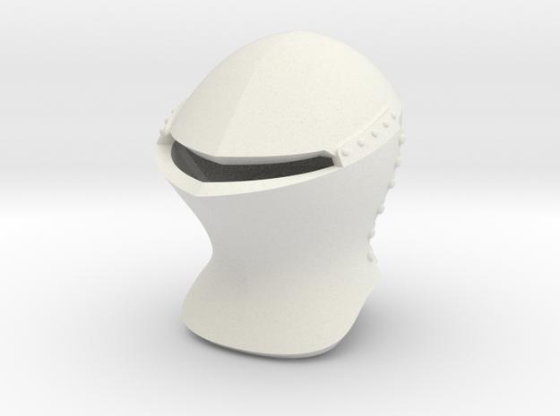 Jousting Helm (Full) in White Natural Versatile Plastic: Small