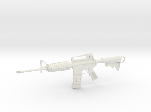 M4A1-S Keychain in White Natural Versatile Plastic