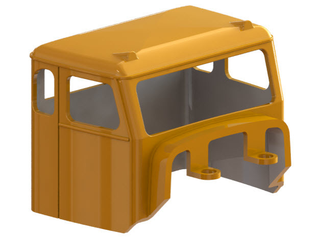 Truck Cab, Be-Ge 1350, fits Tekno Scania in Smooth Fine Detail Plastic