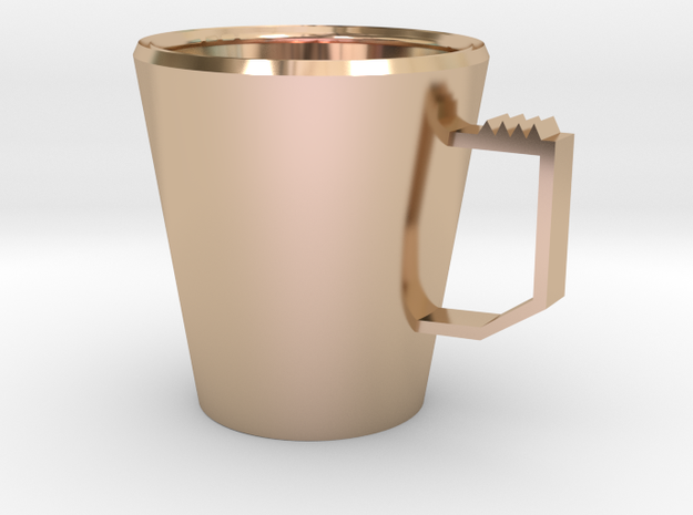 Grass mug in 14k Rose Gold Plated Brass