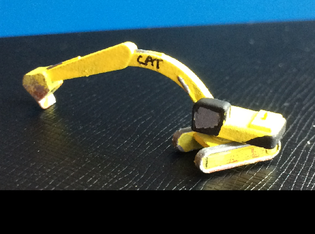 CAT 375 Excavator pose 3 in Smoothest Fine Detail Plastic: 1:500