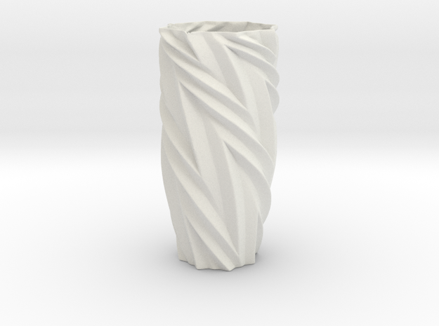 Vase 172532d Redux in White Natural Versatile Plastic