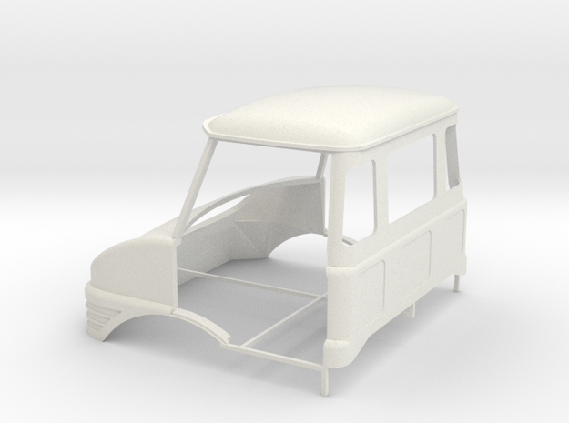 Unimog cab 1/24 in White Natural Versatile Plastic