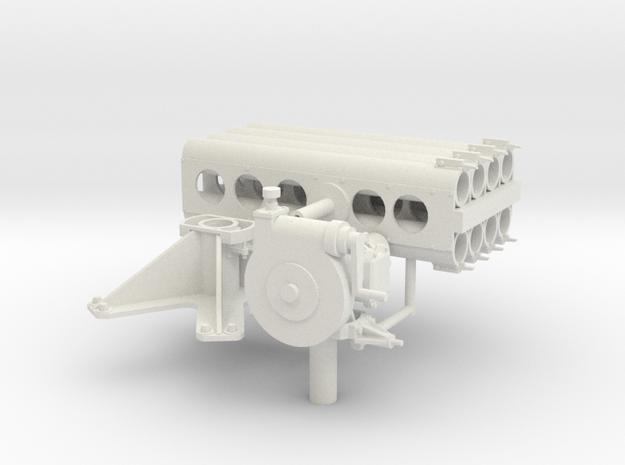 1/16 PT Boat 5 inch Rocket Launcher Mark 50  in White Natural Versatile Plastic