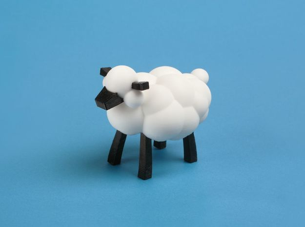 Sheep from LEO the Maker Prince: legs, ears and no in Black Natural Versatile Plastic