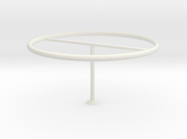 Modern lampshade in White Natural Versatile Plastic: Medium