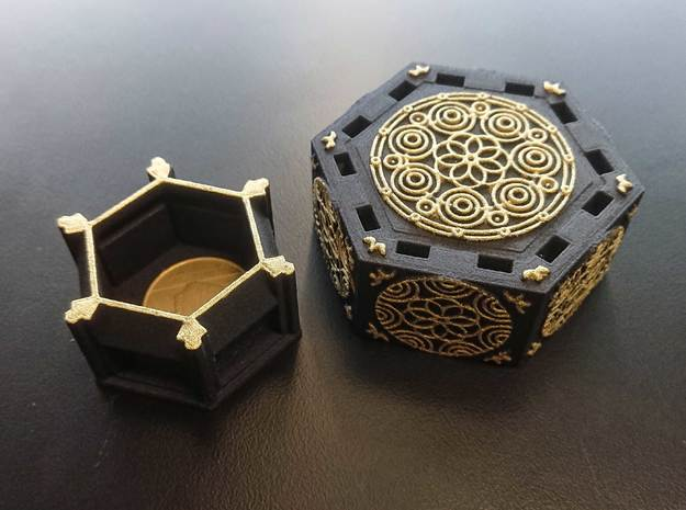 Centrifugal Force Puzzlebox v2.0 in Black Natural Versatile Plastic