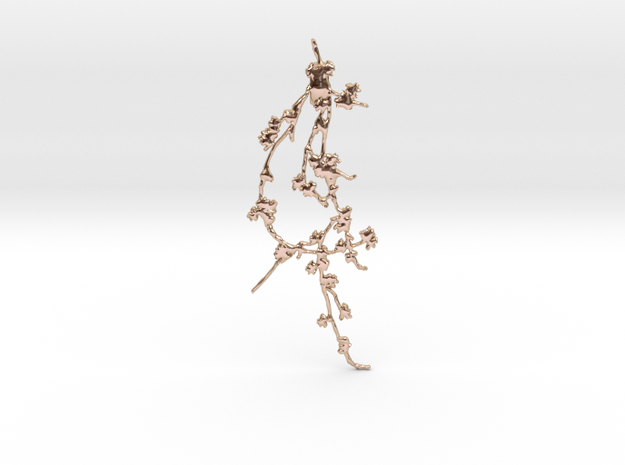 Branch02 Pendant in 14k Rose Gold Plated Brass