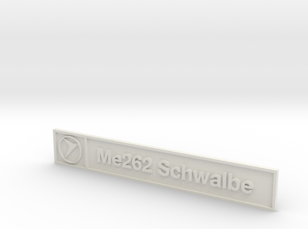 Me262 Plaque in White Natural Versatile Plastic