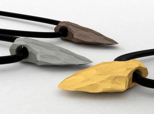 arrow tip stone age pendant & key fob 3d printed
