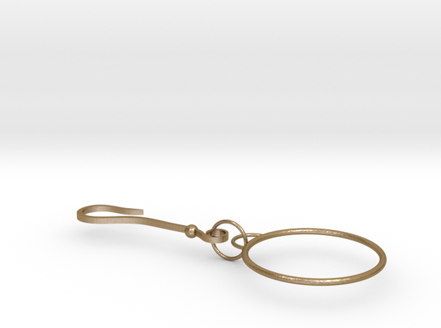 shapeways2 in Polished Gold Steel