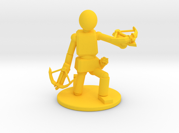 Prototype: Male Dual Crossbows in Yellow Processed Versatile Plastic