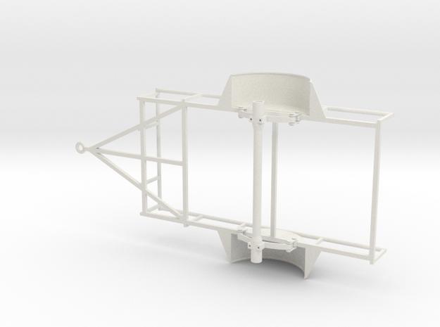 1/10 SCALE UTILITY TRAILER FRAME in White Natural Versatile Plastic
