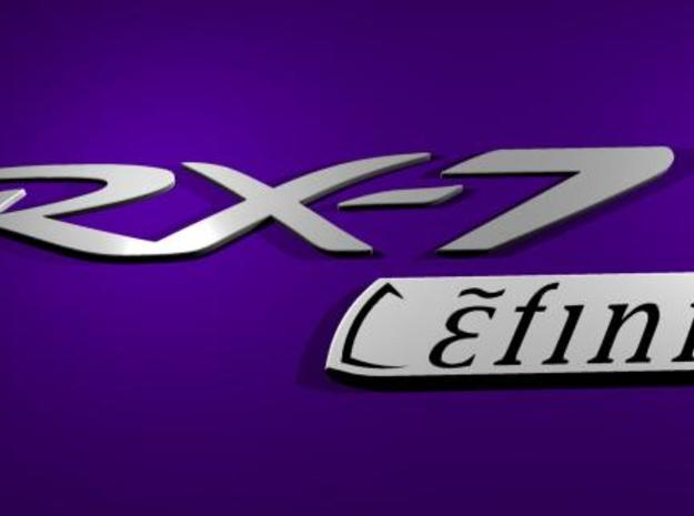 Efini RX-7 new style logo in White Strong & Flexible Polished