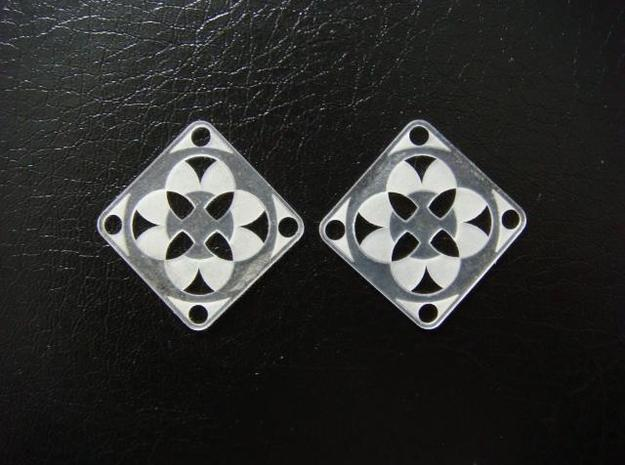 Elegant Earrings - Four Fountains 3d printed Frosted Ultra Detail