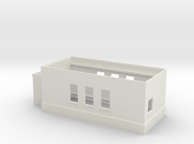 Tower 107 Ground Level (HO 1:87) in White Natural Versatile Plastic