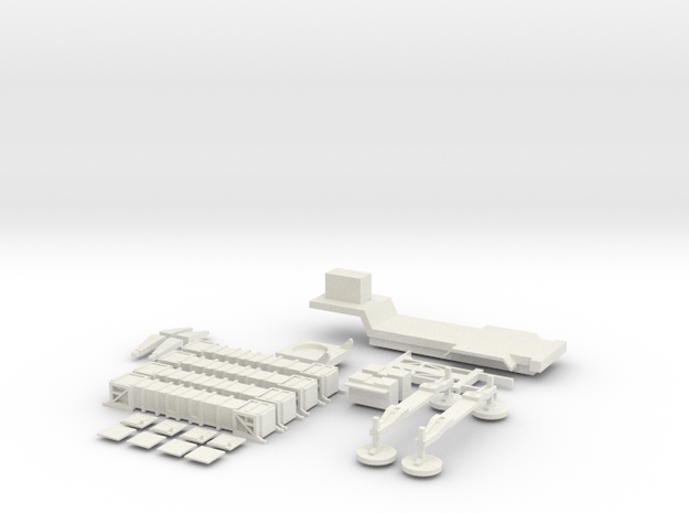 1/285 scale miniature patriot test in White Natural Versatile Plastic