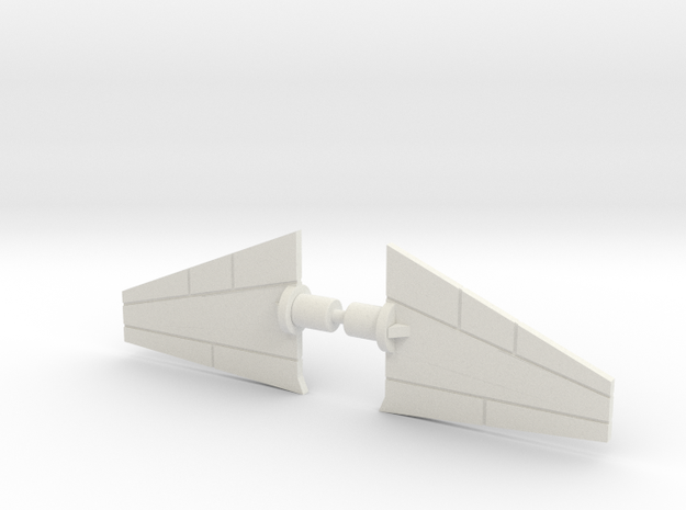 Giant Acroyear Acrojet Tailfins in White Natural Versatile Plastic