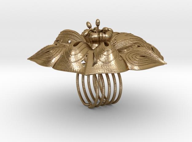 FIOREV4stl in Polished Gold Steel