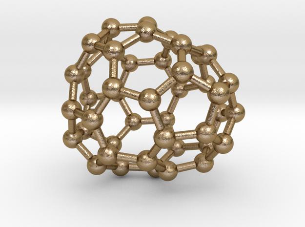 0675 Fullerene c44-47 c1 in Polished Gold Steel