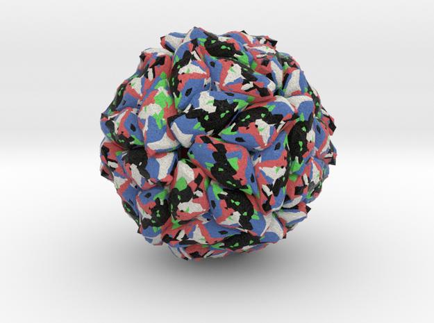 Panicum Mosaic Satellite Virus in Natural Full Color Sandstone