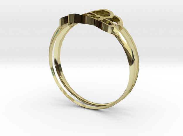 ROYAL RINGS.stl in 18K Yellow Gold: Small