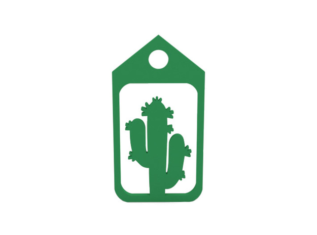 Luggage tag in Green Processed Versatile Plastic