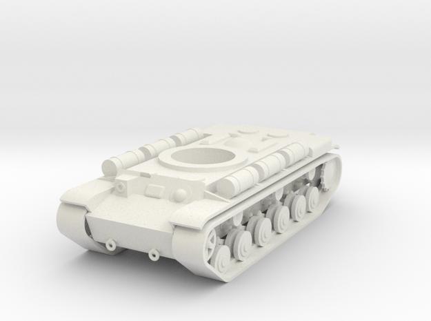 1/100 KV-6 Hull in White Natural Versatile Plastic