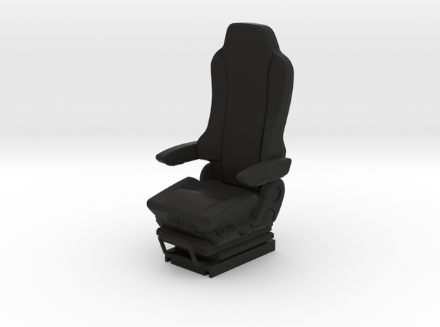 GRAMMER Truck seat  1/14 scale for R/C model truck in Black Natural Versatile Plastic