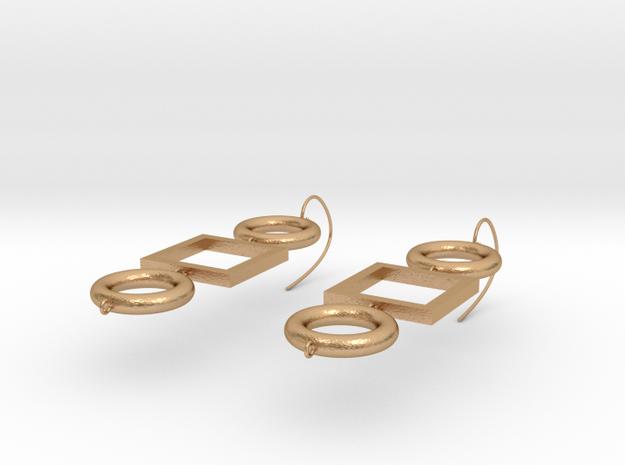 Earrings-Deve in Natural Bronze