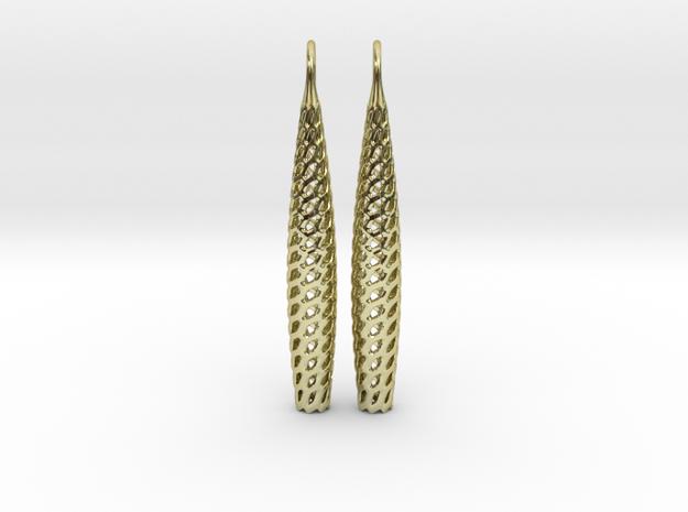 D-STRUTURA Line Earrings in 18k Gold Plated Brass