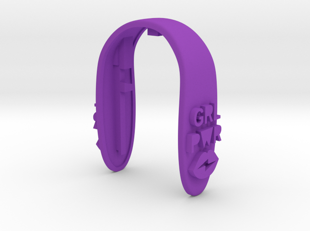 GRL PWR 2 KEY FOB  in Purple Processed Versatile Plastic
