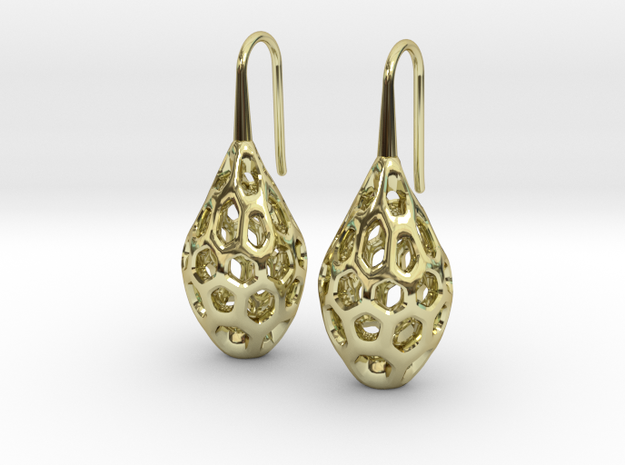 HONEYBIT Earrings.  in 18K Gold Plated