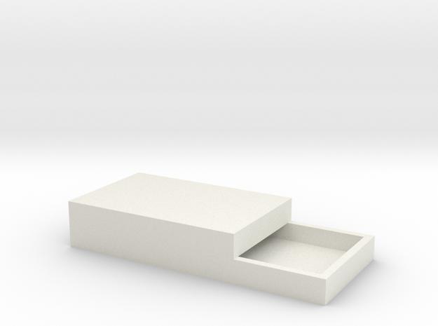 15x11mm Speaker Resonance Box - Triple Width in White Natural Versatile Plastic